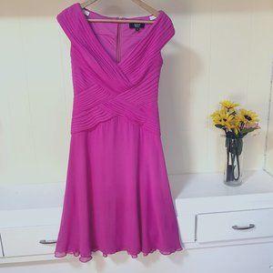 Tadashi Colllection Silk Dress Size 4 flare pink